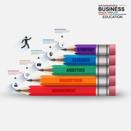 business education: Infographics business stair step success vector design template