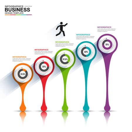 crecimiento: Infografía vector plantilla de diseño