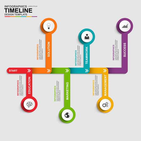 cronogramas: Infografía vector plantilla de diseño