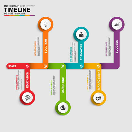 schedule: Infographics vector design template