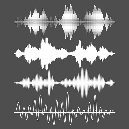 Set of sound waves Illustration