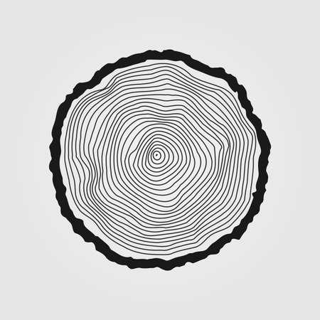 tronco: Vector anillos de los árboles de fondo y corte de sierra tronco del árbol Vectores