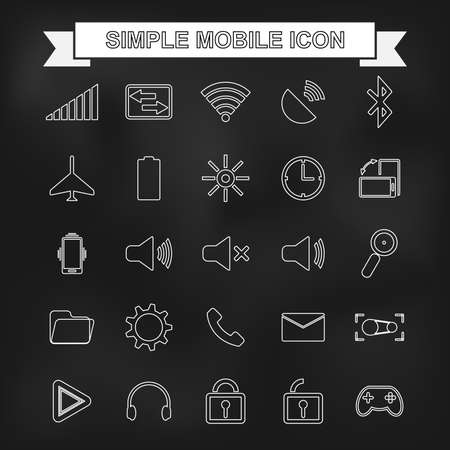 Simple mobile icon with unfocused background