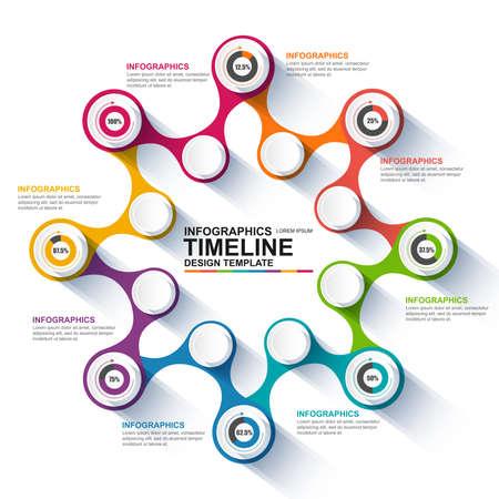 proceso: Infografía plantilla de diseño