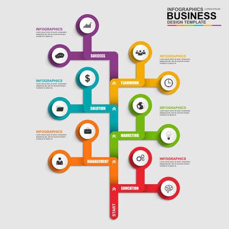 process: Infographics tree design template