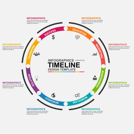 chronological: Infographics design template Illustration