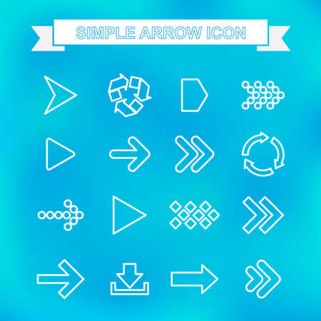 arrowheads: Simple arrow icon with unfocused background Illustration