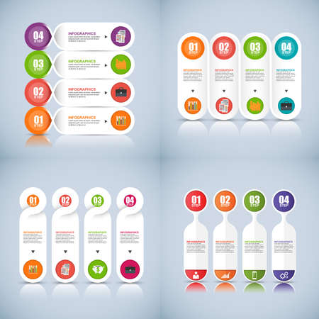 Collection of infographic  design template Reklamní fotografie - 43276471