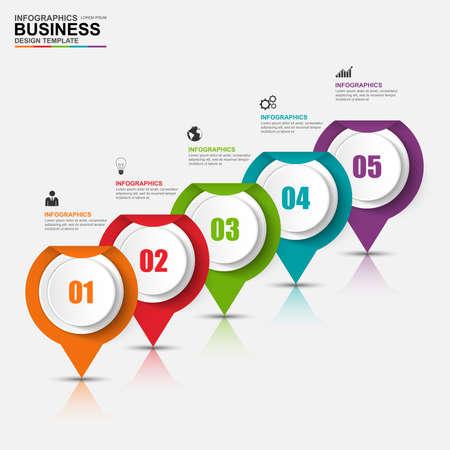 process: Infografía vector plantilla de diseño