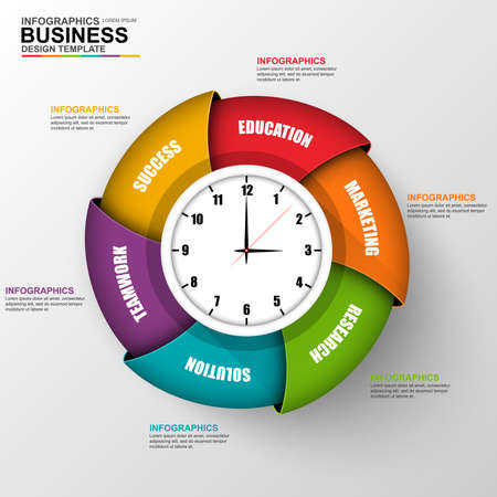 circle design: Abstract 3D digital business Infographic