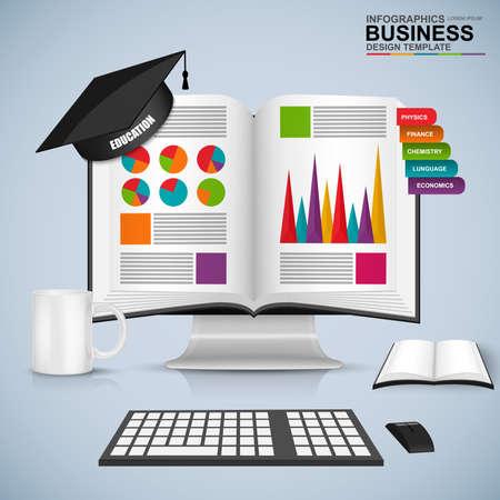 estudiante: Resumen 3D infografía educación libro de negocios