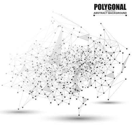 Abstract wireframe mesh polygonal background