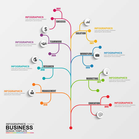 business chart: Infographic tree vector design template Illustration