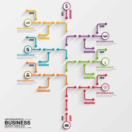 Infographic tree vector design template Illustration