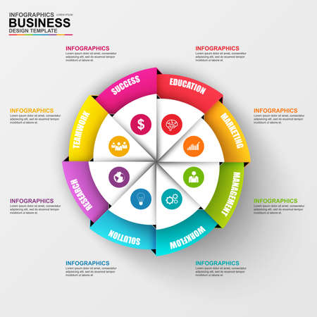 Abstract 3D digital business diagram Infographic Illustration