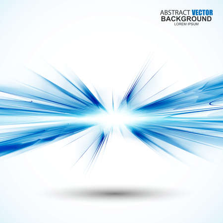 Streszczenie futurystyczny niebieskie tło faliste