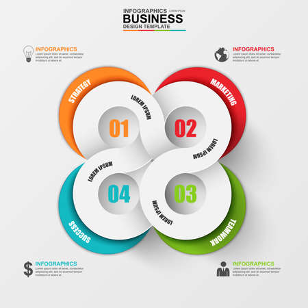business marketing: Abstract 3D digital business marketing Infographic