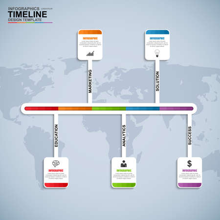chronological: Infographics vector design template