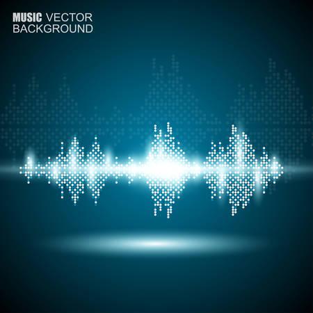 Abstracte muziek golven achtergrond Stock Illustratie