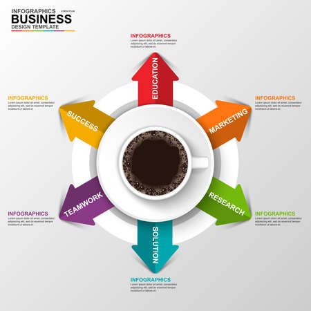 circle design: Abstract 3D digital business arrow Infographic