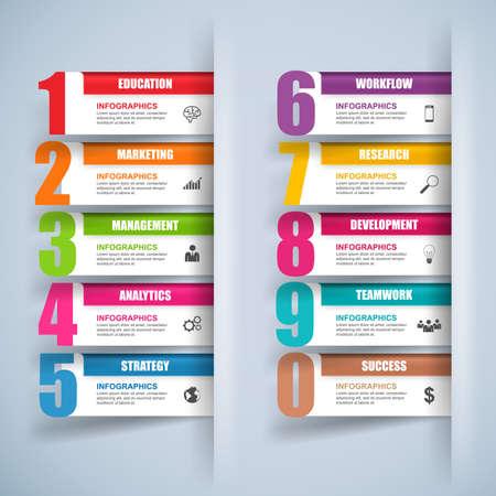 nombres: R�sum� 3D marketing de l'entreprise num�rique Infographie