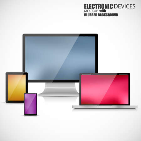 electronic devices: Electronic devices mockup