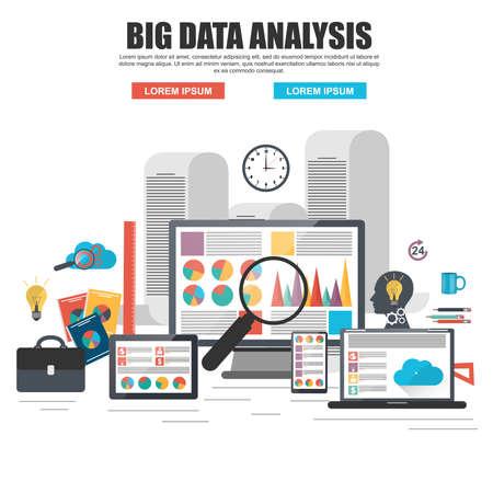 auditoría: Concepto de diseño plano de los grandes análisis de datos de negocios