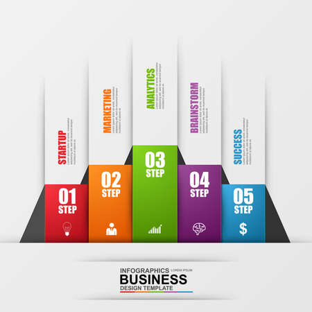 business leadership: Abstract 3D digital business Infographic