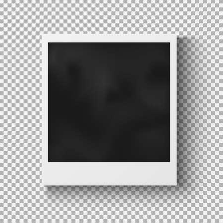 marcos decorativos: Marco de la foto realista con sombra sobre fondo a cuadros