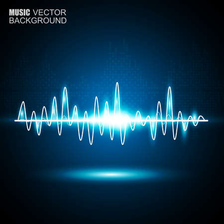 Abstract music waves background Ilustração