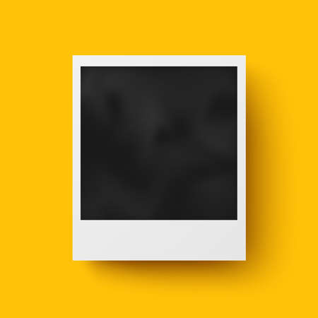 polaroid frame: Realistic photo frame with shadow vector design