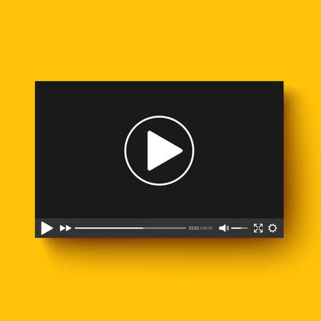 video player: Realistic video player with shadow