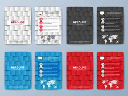 collection: Conjunto de folleto geométrica
