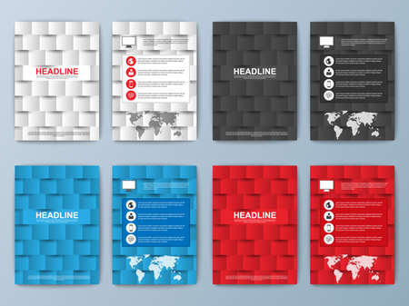 page: Set of geometric brochure Illustration