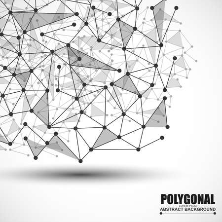 information technology: Abstract wireframe mesh polygonal background
