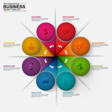 circle design: Infographic marketing diagram vector design template
