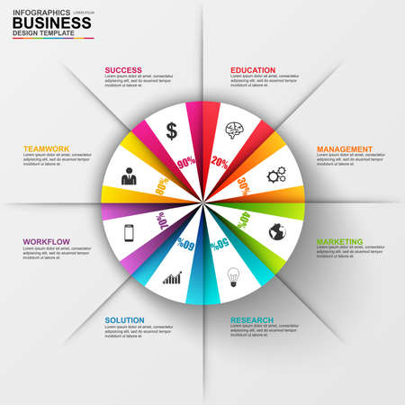 business analysis: Infographic marketing diagram vector design template