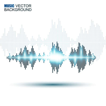 abstract waves: Abstract music sound waves background Illustration