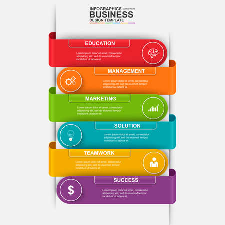 success business: Abstract 3D digital business marketing Infographic