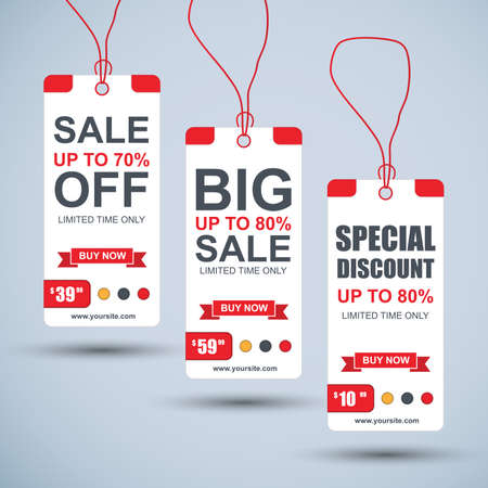 paper tag: Collection paper sale tag. Can be used for e-commerce, e-shopping, flyers, posters, web design and printed materials. Illustration