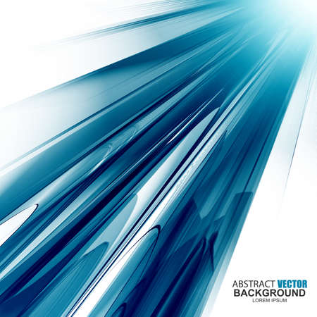 Abstract futuristic blue wavy background. Curve flow blue smoke motion vector illustration