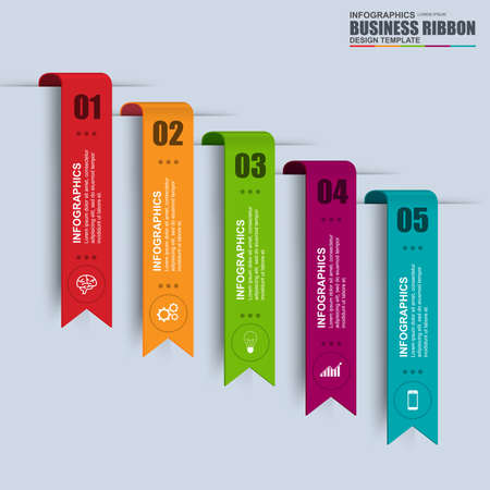Information infographics design. Infographics statistic vector. Infographic for presentation. Infographic banner or infographic elements. Infographic ribbons information set. Ilustração
