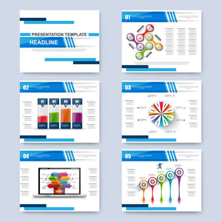 magazine template: Set of Infographic brohucres. Modern infographic vector elements for web, print, magazine, flyer, brochure, media, data visualization, marketing, flyer, poster, and advertising concepts. Illustration