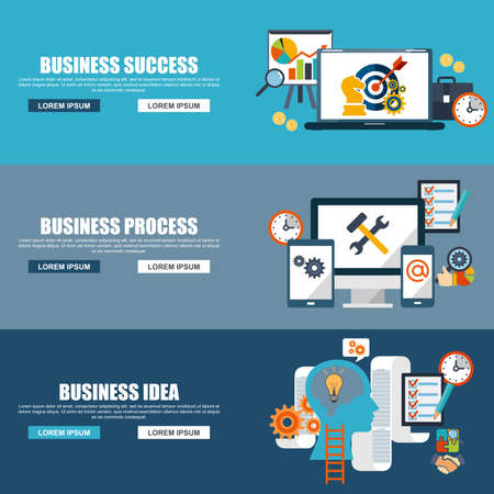 demonstrative: Teamwork design concept set with team business process, idea, strategy and success flat icons set vector illustration