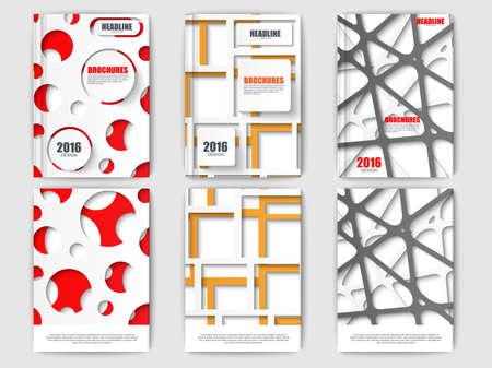 Ensemble de brochures de papier découpé. éléments vectoriels modernes pour le web, print, magazine, dépliant, brochure, les médias, la visualisation de données, marketing, flyer, affiche, et les concepts publicitaires. Vecteurs