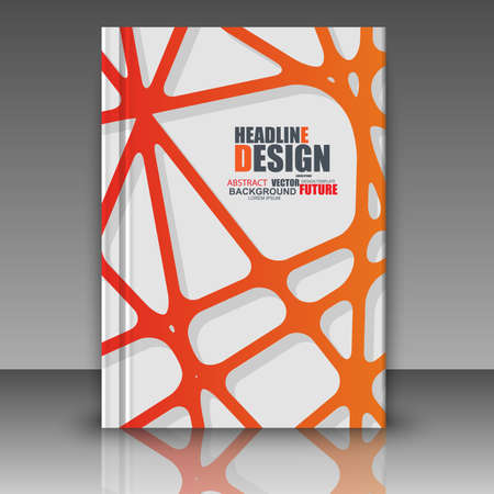 carpeta: línea de composición abstracta, la hoja A4 título folleto, el fondo del espacio, para web, impresión, revista, folleto, tipografía, folleto.