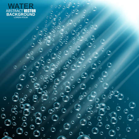 sunbeam background: Underwater background vector illustration