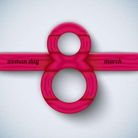 Les éléments de vecteur Journée de la femme Happy pour le web, print, magazine, dépliant, brochure, les médias, la visualisation de données, flyer, affiche, et la publicité avec 8 texte Mars