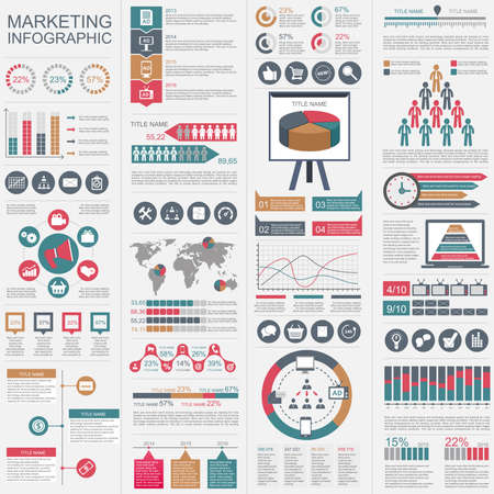 Infographic marketing vector design template. Can be used for workflow, startup, business success, diagram, infographic banner, teamwork, design, infographic elements, set information infographics.