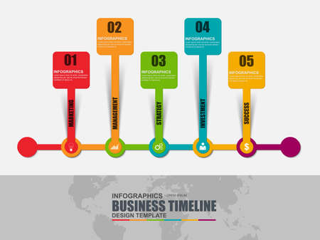 chronological: Infographic timeline vector design template. Can be used for workflow, startup, business success, diagram, infographic banner, teamwork, web design, infographic elements, information infographics.